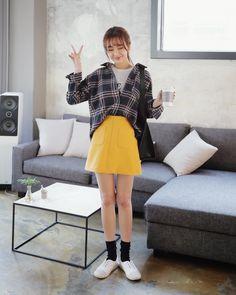 Ulzzang girl smiling Korean Fashion