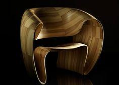 Bent veneered chair