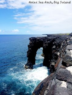 Holie Sea Arch on the Big Island, Hawaii. Part of the Crater Rim Drive in Hawaii Volcanoes National Park, a beautiful scenic drive.