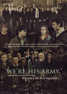 'We're His Army' - Harry Potter Stuff Harry James Potter, Blaise Harry Potter, Harry Potter Quotes, Harry Potter Books, Harry Potter Universal, Harry Potter World, Draco, Hp Wallpaper Hd, Hogwarts