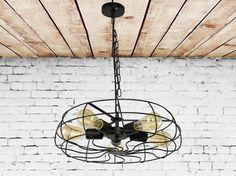 Fer pendentif luminaire comme ventilateur industriel lustre suspendu Eclairage suspension Vintage Modern lighting lustre de cuisine