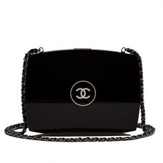 Pre-Owned Chanel Limited Edition Black Compact Powder Minaudiere ($10,500) ❤ liked on Polyvore featuring bags, handbags, multi colored leather handbags, black handbags, real leather handbags, chanel and multi colored leather purses
