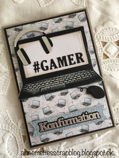 Anne-Mette´s scrapblog: Konfirmationskort 2018 Boy Cards, Pop Up Cards, Diy And Crafts, Arts And Crafts, Handmade Thank You Cards, Homemade Greeting Cards, Mini Scrapbook Albums, Stampin Up, Birthday Cards