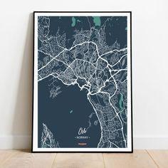 Oslo Money heist - Oslo mapa - Cartel de Oslo - Impresión de Oslo - Oslo mapa de la calle - Arte de pared de Oslo Oslo, Cities, Etsy, Night, Artwork, Prints, Maps, Wall Art, Impressionism