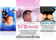 And Now for our Feature Presentation – Your Baby. #birth_announcements #newborn #baby