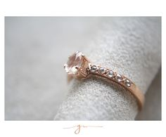 Peach Sapphire and Rosecut Diamonds in Rose Gold by Gaby Marcos Atelier Peach Sapphire, Gems Jewelry, Rose Cut Diamond, Wedding Rings, Rose Gold, Engagement Rings, Bridal, Boyfriends, Sapphire