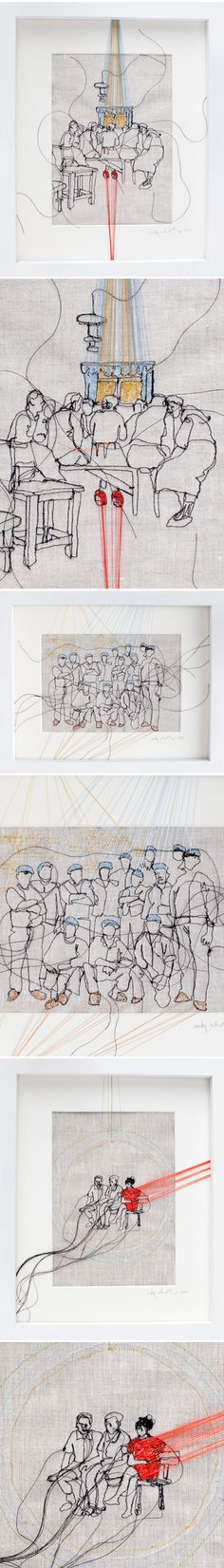 drawing with thread :: nike schroeder