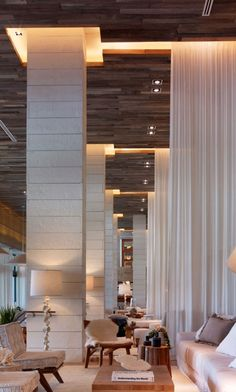 Lost Coast Redwood Weathered ceiling paneling at 1 Hotel in South Beach Florida