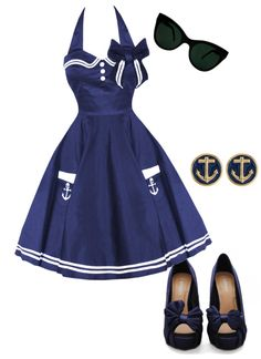 """vintage sailor(:"" by tomsforlife ❤ liked on Polyvore"