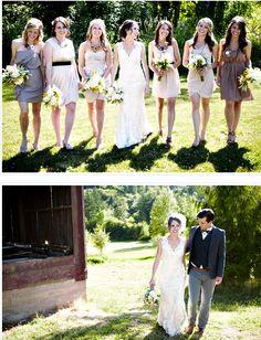 <3 different bridesmaid dresses that flatter each girl