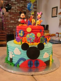 Mickey Mouse Club House cake:)