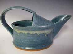Wheel Thrown and Altered Watering Can by gallagherpottery on Etsy, $55.00