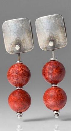 Holly Masterson Sponge Coral Drop Earrings