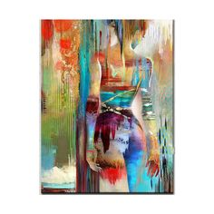 Hand painted modern abstract painting nude oil painting on canvas Living room Fine Art colorful naked woman home decoration