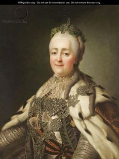 Portrait Of Catherine II - by (after) Alexander Roslin