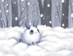 Puddle Bunny ~ Snow Bunny for December ~ celesse