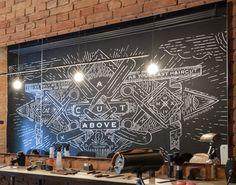 Pinch Barbershop Chalk Mural by Bratislav Milenkovic, via Behance