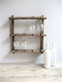 DIY idea for the Thursday... A simplistic, but beautiful wine glass rack.