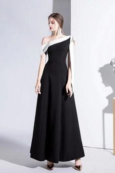 Black prom dress banquet evening dress one shoulder lady evening dress temperament noble annual meeting dress sold by shuiruyandresses. Shop more products from shuiruyandresses on Storenvy, the home of independent small businesses all over the world. Celebrity Inspired Dresses, Celebrity Dresses, Women's Evening Dresses, Prom Dresses, Wedding Dresses, One Shoulder Prom Dress, Goddess Dress, Black Celebrities, Black Prom