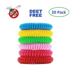 Set Of 20 Pc Mosquito Repellent Bracelet Non Toxic Natural Citronella Waterproof #AntiMosquito