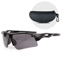 Lightweight and durable Sport Sunglasses with Wraparound Protection Perfect for various sports such as running cycling hiking etc Come with a Hard Protective Case *** Visit the image link more details. Cycling Sunglasses, Sports Sunglasses, Oakley Sunglasses, Truck Accessories, Accessories Store, Bike Trainer, Wrap Around, Protective Cases, Trainers