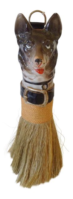 Dog's Head Lint Brush on Chairish.com