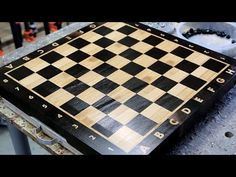 """Making a """"Chess"""" end grain cutting board End Grain Cutting Board, Diy Cutting Board, Custom Cutting Boards, Diy Projects Plans, Cnc Projects, Used Cnc Machines, Wood Games, Bubble Wands, Tool Organization"""