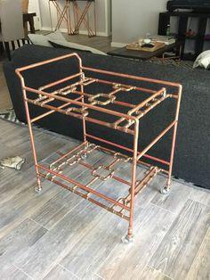 DIY Copper Pipe Bar Cart | DIY - Decor and Furniture ...
