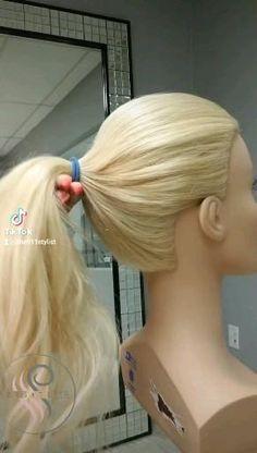 Easy Hairstyles For Long Hair, Pretty Hairstyles, High Ponytail Hairstyles, Medium Hair Styles, Curly Hair Styles, Hair Upstyles, Great Hair, Hair Videos, Hair Looks