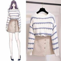 Pin by Teerachai TravelPro Team on Drawings in 2019 Ulzzang Fashion, Kpop Fashion, Asian Fashion, Daily Fashion, Fashion Outfits, Womens Fashion, Dress Fashion, Mode Kpop, Mode Ulzzang