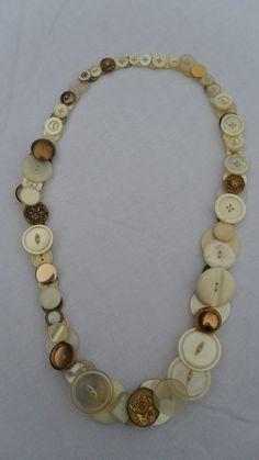 Vintage Button Necklace - $40