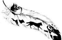 Wolf Tattoo Design Fine Idea-