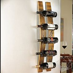 Barrel Stave Wall Wine Rack at Wine Enthusiast - $84.99 #WineEnthusiast