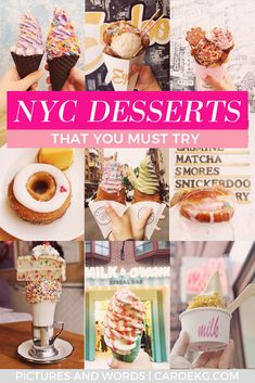 The best NYC desserts New York Travel Guide, New York City Travel, Times Square, Must Eat Nyc, New York Essen, Central Park, New York Food, Instagram Worthy, Best Places To Eat