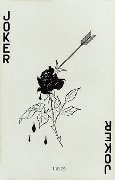 Rose with an Arrow Joker. Undated. There was a Rose on the back of the card.