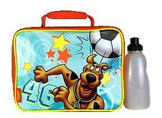 Thermos Scooby Doo Soccer Ball Lunch Box with Water Bottle by Scooby Doo & Thermos. Save 15 Off!. $16.99. Now Scooby Doo can accompany your child to school, the park, field trips, and more with this Thermos Scooby Doo lunch box.  This lunch box made by Thermos is tested to be lead safe and as in all Thermos soft products, this lunch box is assured to be in compliance with all safety standards adhering to ASTM F963-03.  In addition, this lunch box comes with a bonus water bottle.