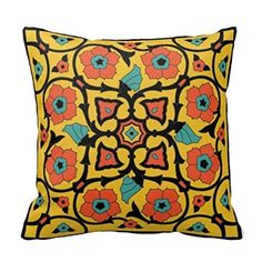 Nostalgiaz Cotton Linen Decorative Throw Pillow Case Cushion Cover ( S Catalina Island Tile )- 1818 - Brought to you by Avarsha.com