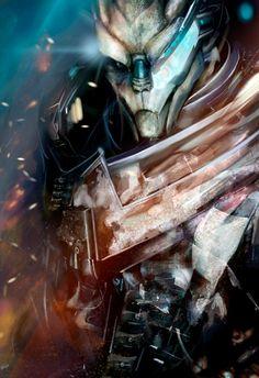 Mass Effect - Garrus Vakarian (by AlbaPalacio on DevianArt] Mass Effect Garrus, Mass Effect 1, Mass Effect Universe, Video Game Art, Video Games, Cyberpunk, Friday Im In Love, Commander Shepard, Gamers