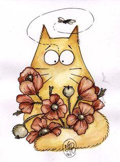 ru / Фото - Cats by Maria van Bruggan - Polterguist Guache, Cat Colors, Watercolor Animals, Watercolour, Cat Drawing, Crazy Cats, Doodle Art, Cat Art, Illustrations