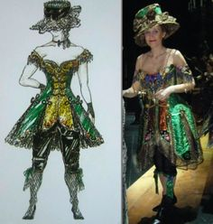 "Phantom of the Opera, the ""Green Lady"" Masquerade costume, (Maria Bjornson)"