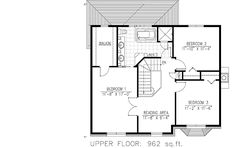 House plan number - a beautiful 3 bedroom, 1 bathroom home. 2nd Floor, House Plans, Floor Plans, Flooring, How To Plan, Bedroom, Beautiful, Home, House Plans Design