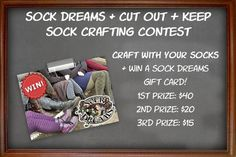 Its not too late to enter our contest over on Cut Out And Keep! Submit your sock-related DIY project by April 28th for your chance to win!