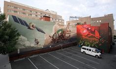 """Doom Loop"" by WES21 x ONUR Richmond Mural Project 2014"
