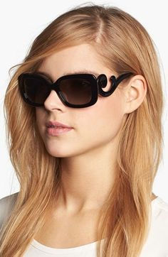 It's not even funny how much I want these Prada 'Baroque' Sunglasses available at #Nordstrom