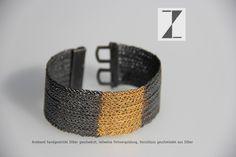 Armband handgestrickt #Silber #Silber geschwärzt #Vergoldung #Geschenk #Strickliesel #Unikat www.atelier-zellhuber.de