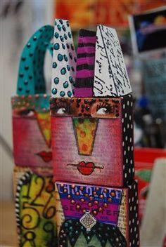 Funky Art Dolls by MJ Chadbourne/Desert Dream Studios - Cloth Paper Scissors