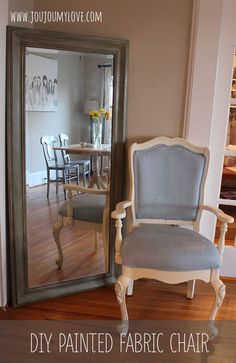 How to paint a fabric chair with Annie Sloan Chalk Paint