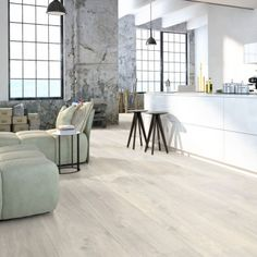 Home plus Flex - Raw concrete grey: Loose-lay pvc tegels Interior Design, Furniture, Home, Interior, Household Furniture, Vinyl Flooring, Household Decor, Tile Design, Home Decor