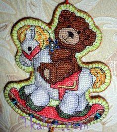 Новогодняя игрушка в винтажном стиле от Анны Болдыревой