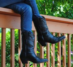 BLACK LARIAT LEGEND LEATHER SQUARE TOE BOOTS BY ARIAT BOOTS http ...